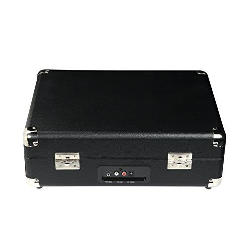 MyWave Portable Bluetooth Turntable Built-in Stereo Speakers, Transmit & Receive in ,AUX in,RCA Out,Headphone Jack,Black