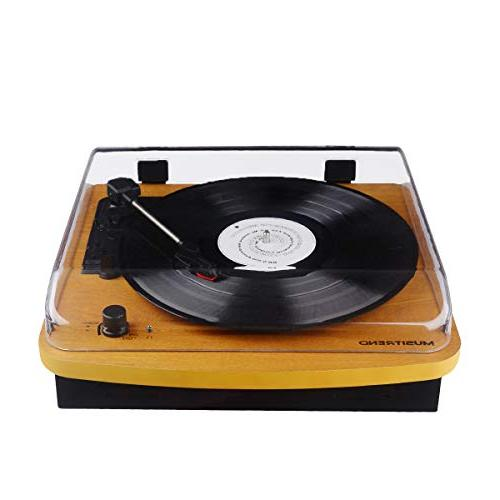 Belt-Drive Stereo Vintage Record Player Recording, AUX Jack