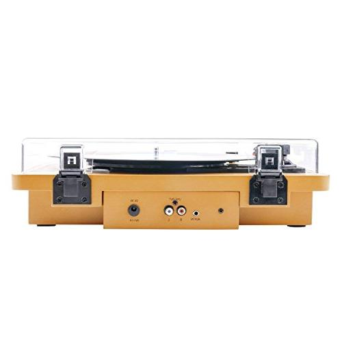 Wrcibo Record Player, Vintage Turntable Vinyl Player with Built-in Stereo Speaker, Wood