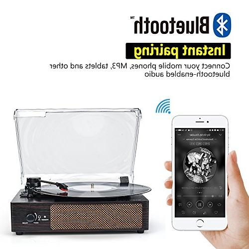 Record Bluetooth LP with Speakers, Record Player