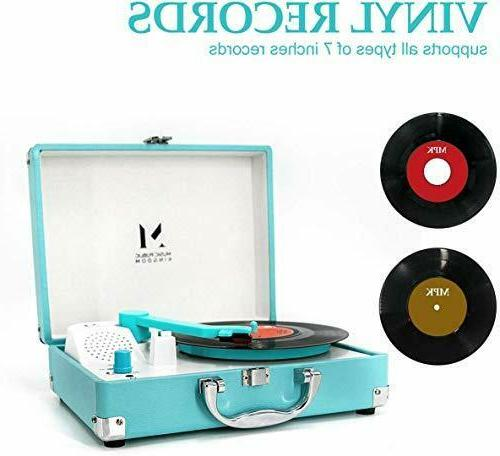 Record Player Portable Suitcase Turntable 7 Inch Vinyl Driv