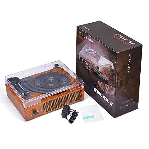 Record Player Turntable 3-Speed Bluetooth Vinyl Player with Style Vinyl Player