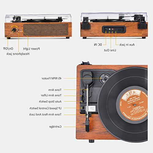 Record Player Bluetooth with Stereo Style