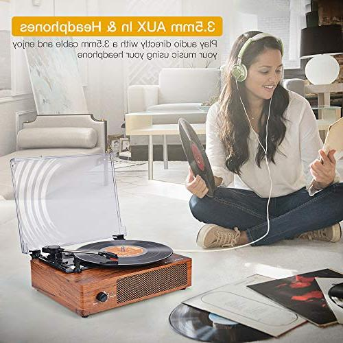 Bluetooth Vinyl Player with Stereo Style Record