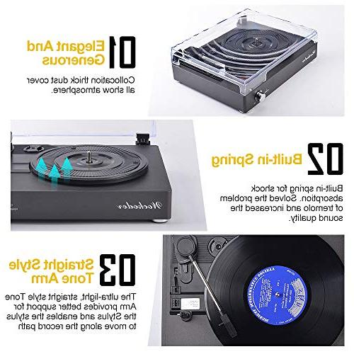 Record Turntable Portable Bluetooth Belt-Drive Vintage Style Record Player