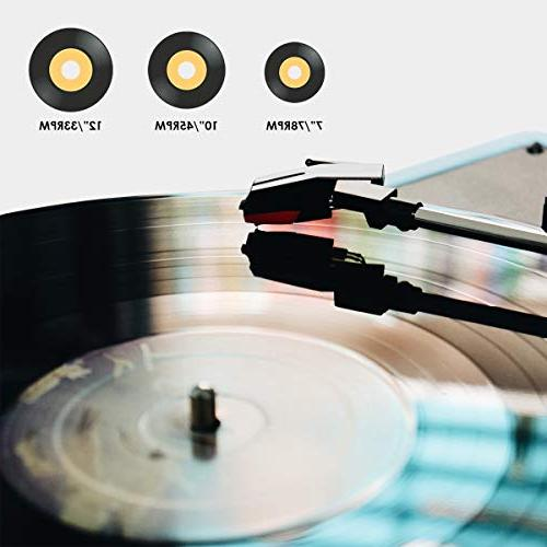 Vinyl Bluetooth, Turntable Speed, Vinyl Record with Classic Wooden