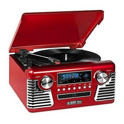 Victrola Retro Record Player Stereo With Bluetooth USB