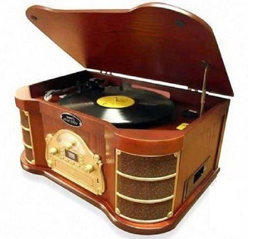 Retro Stereo Turntable CD Record Player