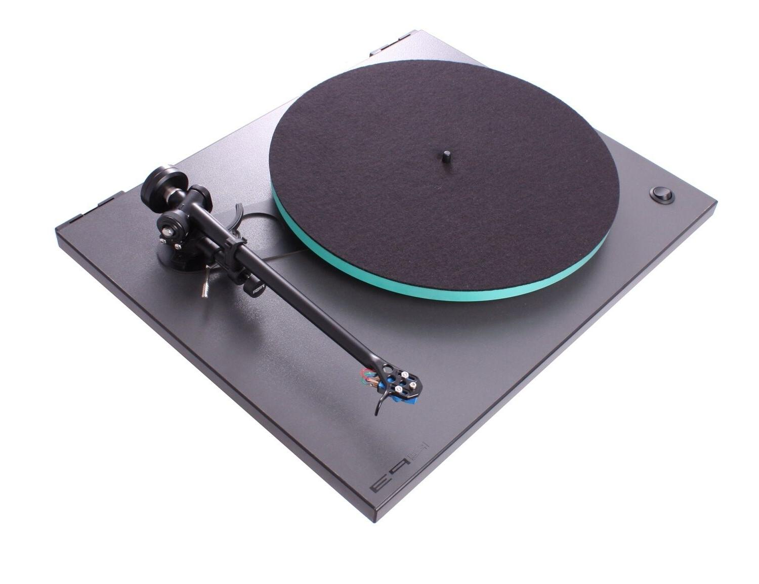 rp3 turntable with dustcover glass platter rb303