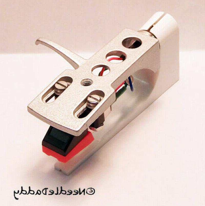 silver headshell cartridge and stylus for dj