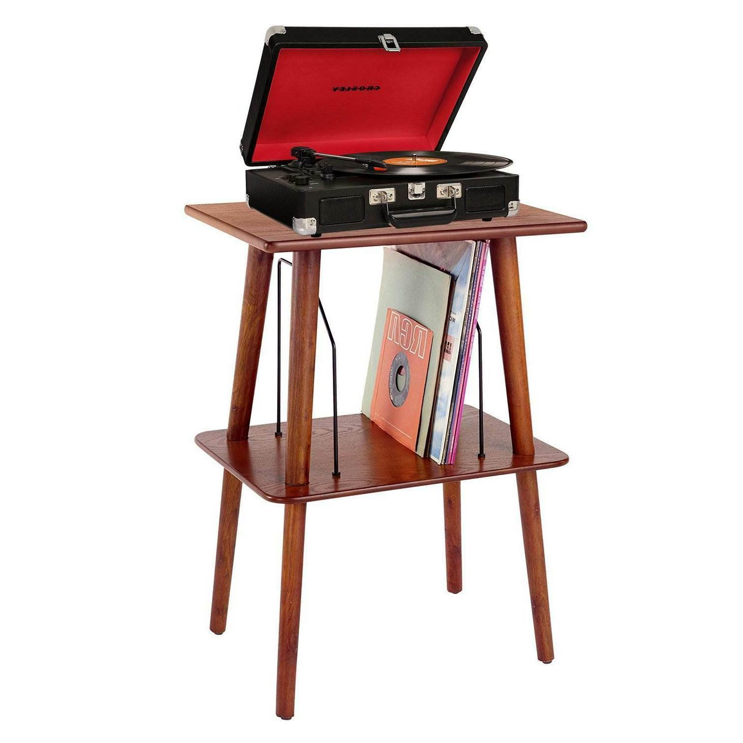 Small Retro Turntable Stand Table Record Player Vinyl LP Sto