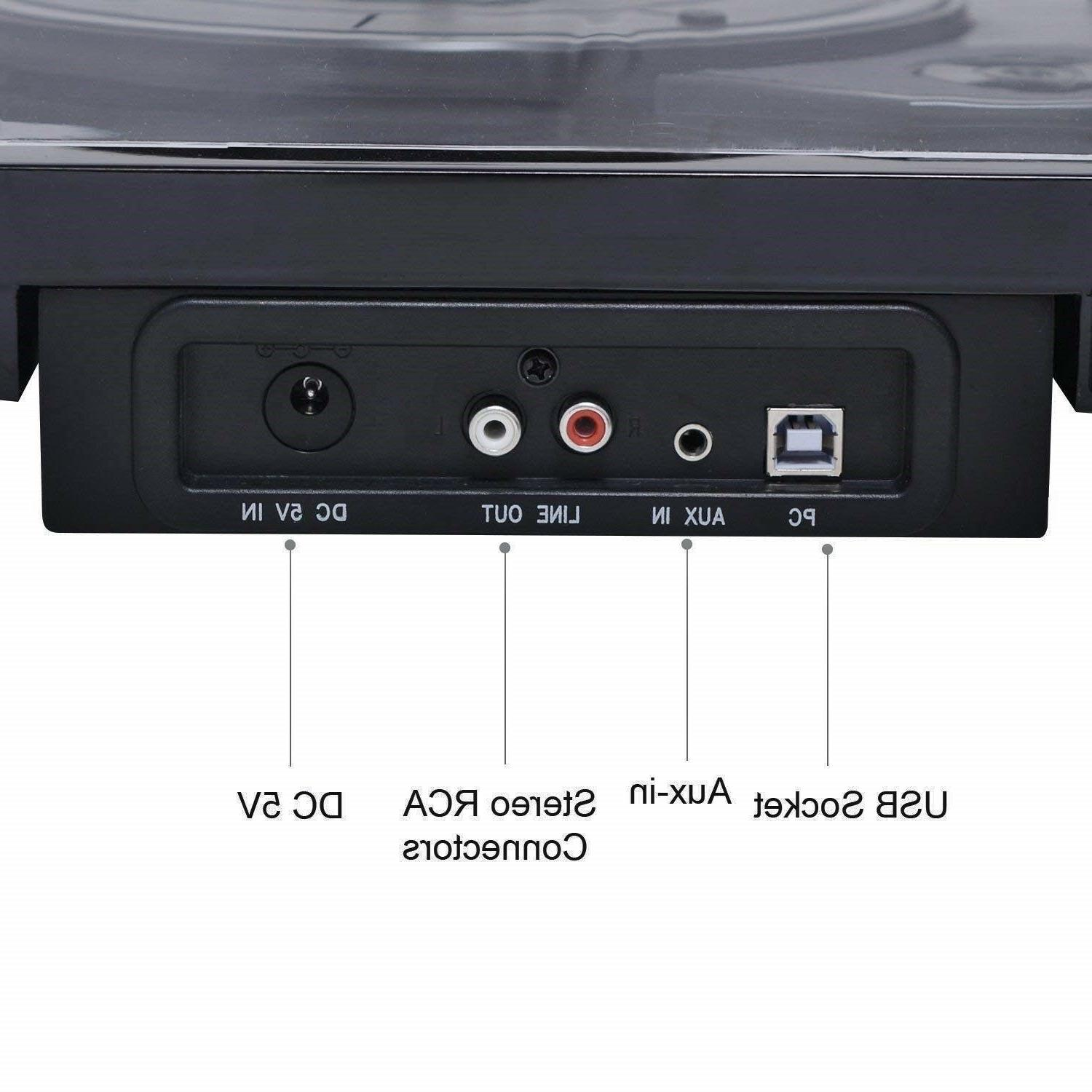 Musitrend T1107 Turntable Speaker Vinyl Player LP Wireless Bluetooth