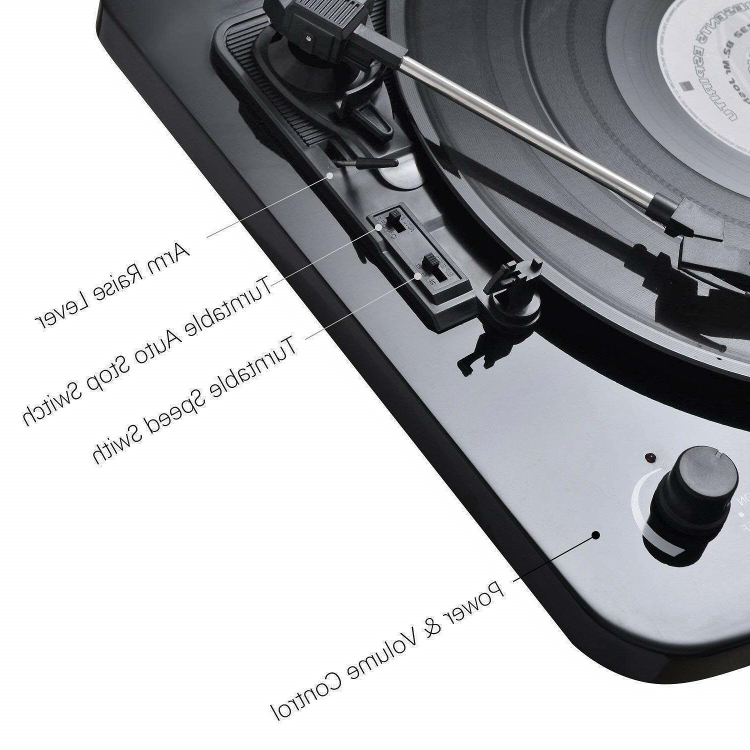 Musitrend Turntable Speaker Vinyl mp3 LP