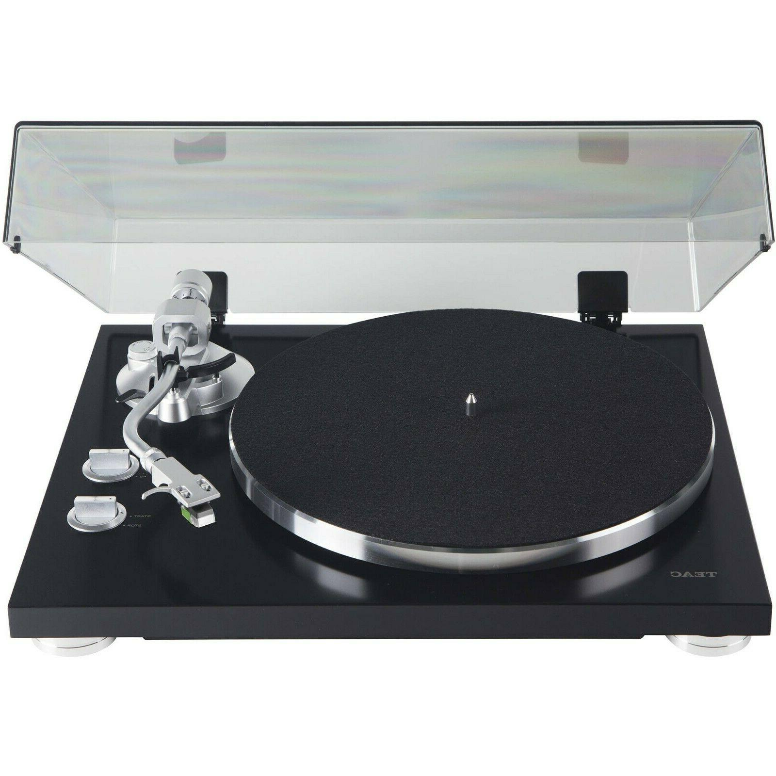 TEAC - Belt-Driven Turntable with S-Shaped Tonearm Black