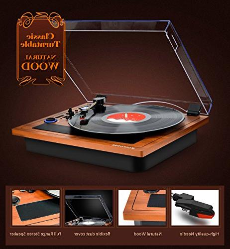Turntable Wireless Out Record Built in Turntable Vinyl Turntable Support Recording USB SD LP Player