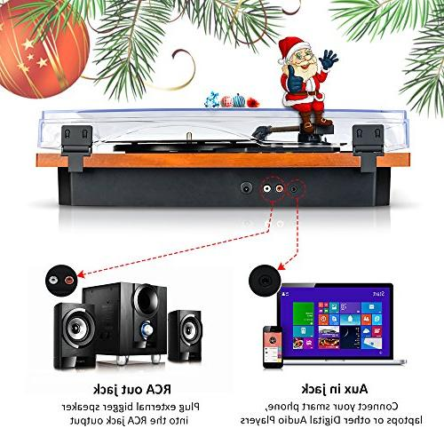Turntable Wireless & Out Record in Speakers Vinyl Turntable Player Recording Player