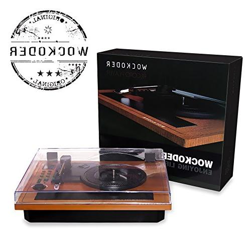 Turntable Record Wireless Bluetooth & Out Record Built in Stereo Speakers Turntable Support Recording Player