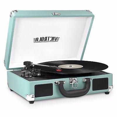 victrola portable suitcase record player turntable