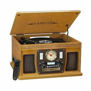 victrola nostalgic aviator wood 8 in 1