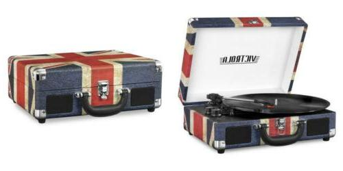 vintage 3 speed bluetooth suitcase turntable