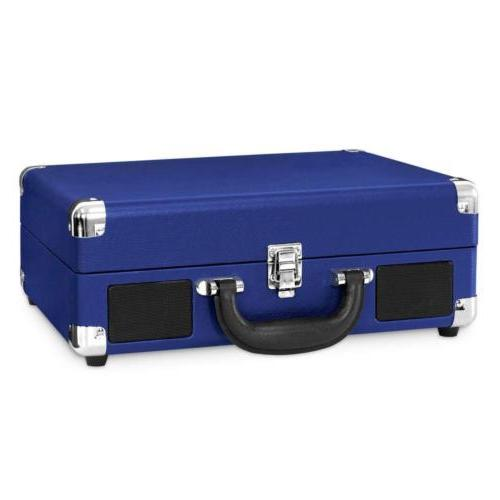 Victrola Suitcase Turntable with Cobalt Blue