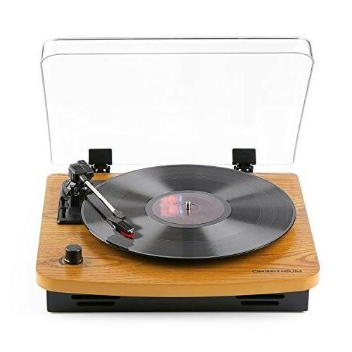 Vintage Record Player 3-Speed Built-in Vinyl-to-MP3 Support