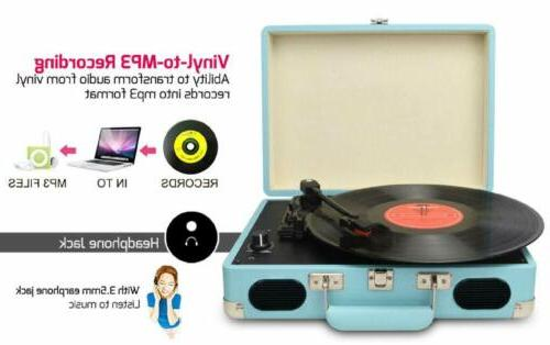 Vintage Record with Built-in Stereo