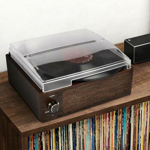 Vintage Vinyl Record Player Bluetooth 3-Speed Aux