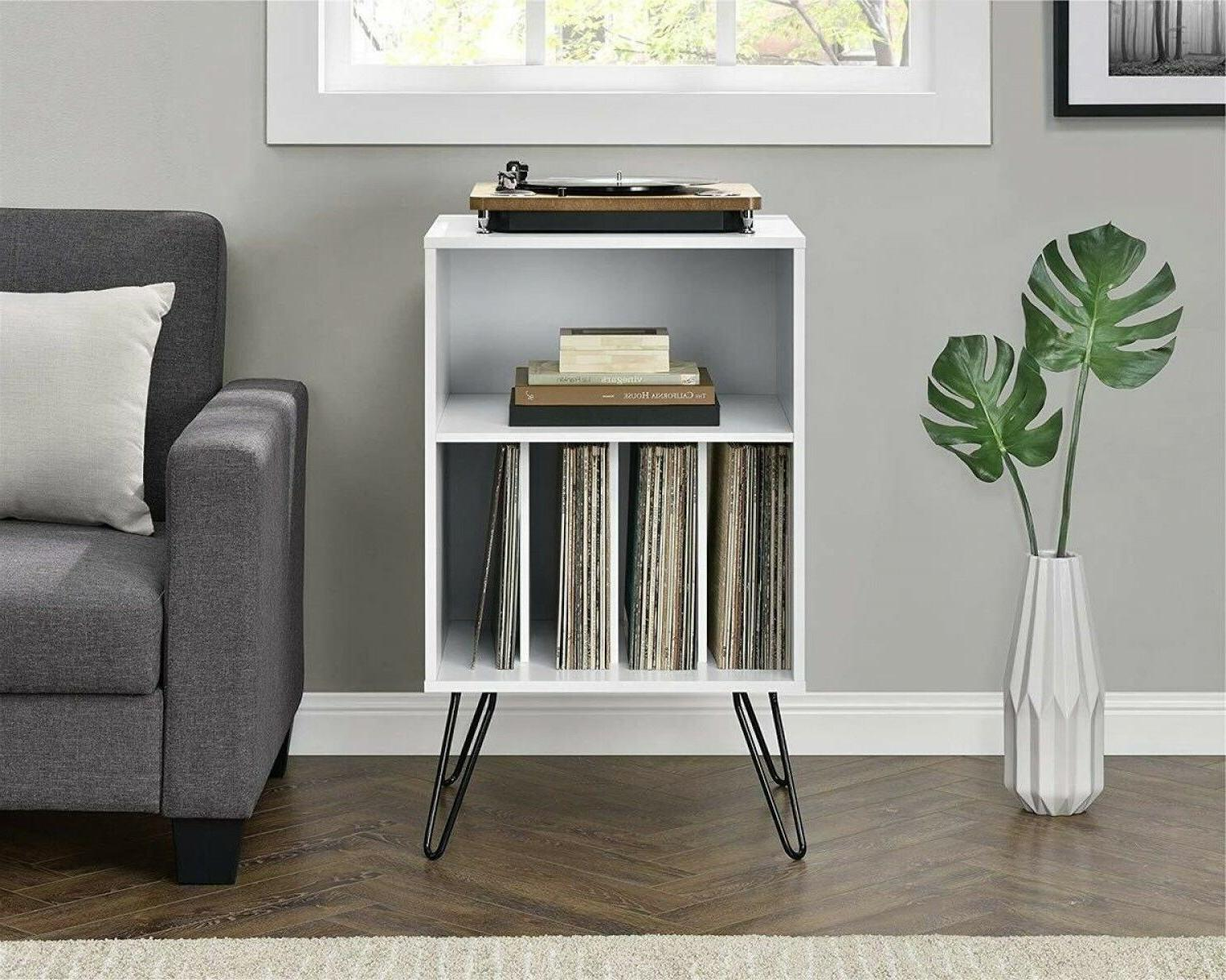Vinyl Record Player Stand Rack LP