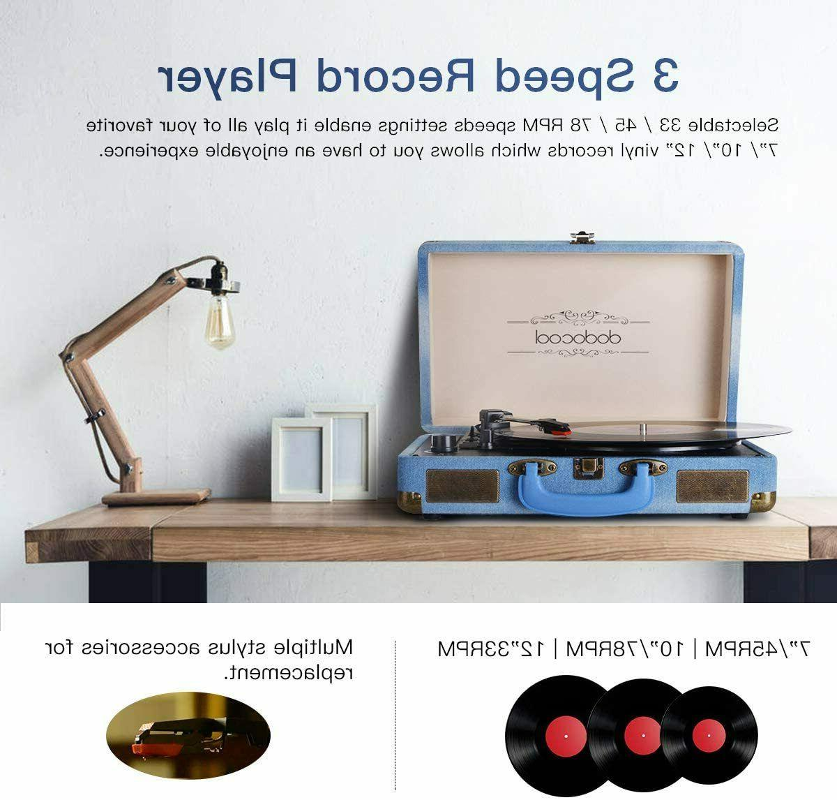 Vinyl Record Vintage Turntable BlueTooth...