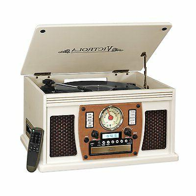 Victrola VTA-600BWT  7-in-1 Bluetooth Record Player with USB
