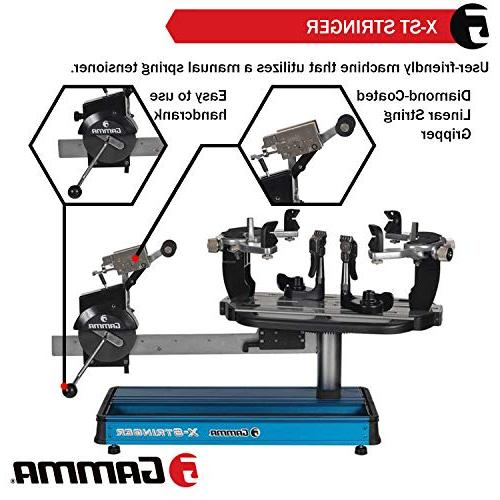 Gamma X-ST String Machine Tools Tennis, Squash and Racket Stringer - Tabletop Racket