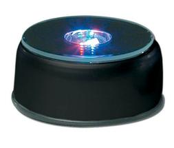 Amlong Crystal 3 Inch Rotating LED Light Display Base with A