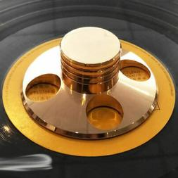 LP Vinyl Turntable Disc Stabilizer Record Weight Gold HiFi M