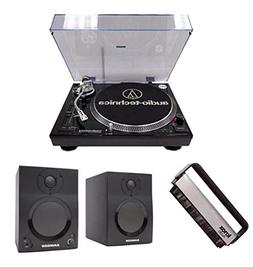 Audio-Technica AT-LP120-USB Turntable w/ Samson SAMBT3 Bluet