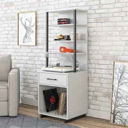 Ameriwood Home Mason Tall Turntable Stand in Dove Gray