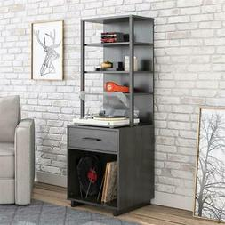 Ameriwood Home Mason Tall Turntable Stand in Espresso