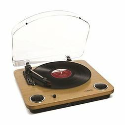 Ion Audio Max LP 3-Speed Belt Drive Wooden DJ Turntable with