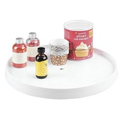 mDesign Lazy Susan Turntable Spice Organizer Rack for Kitche