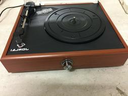 Jorlai Mini Stereo Turntable 3 Speed Record Player With Buil
