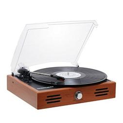 Musitrend Mini Stereo Turntable 3 Speed Record Player with M