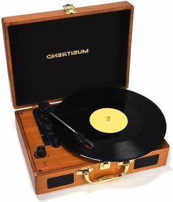 Musitrend MT316W Portable Record Turntable w/ Stereo built-i