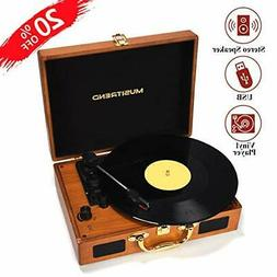 Musitrend Record Player Vinyl Turntable 3 Speed Vintage Reco