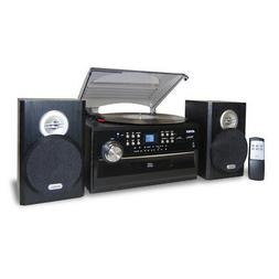New Jensen 3-Speed Stereo Turntable with CD System, Cassette