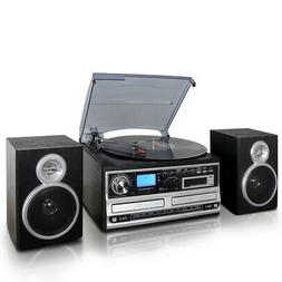 New Trexonic 3-Speed Turntable With CD Player, CD Recorder,