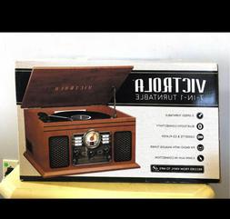 new 7 in 1 turntable mahogany bluetooth