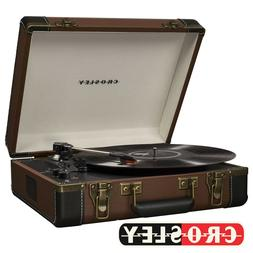 NEW Crosley EXECUTIVE DELUXE CR6019D-BR Portable Bluetooth T