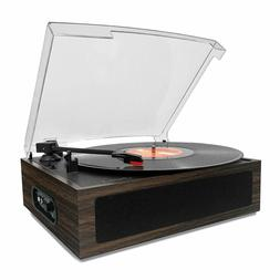 NEW LP&No.1 Vintage Vinyl Record Player with Stereo Speaker,