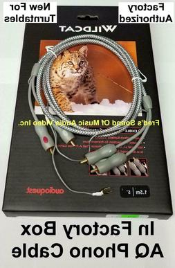 NEW Audioquest Turntable Cable 1.5m RCA Connectors For Phono