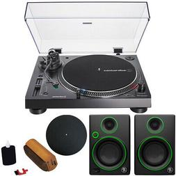 "Audio-Technica AT-LP120XUSB-BK Turntable & 2 Mackie CR3 3"" S"